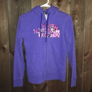 The North Face full zip Women's sweatshirt Size S